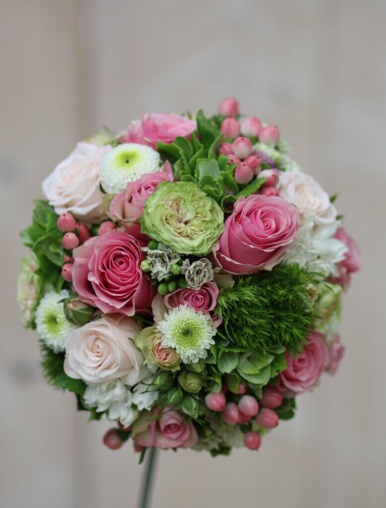 Hochzeitsschmuck Brautstrauß Kugel rosa 2