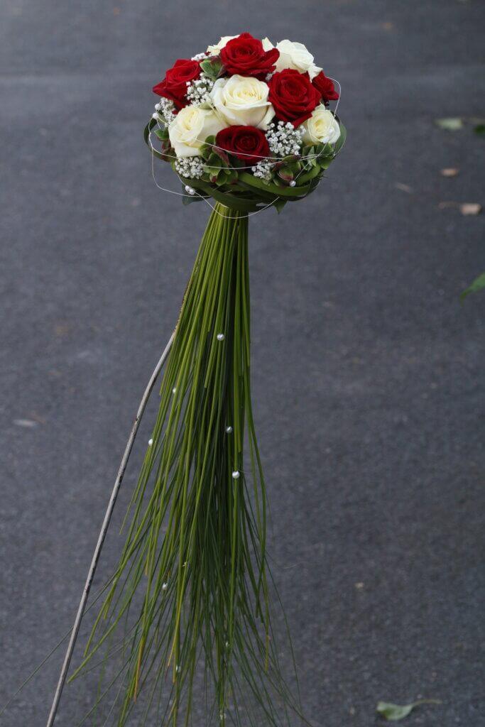Hochzeitsschmuck Brautstrauß Zepter rot