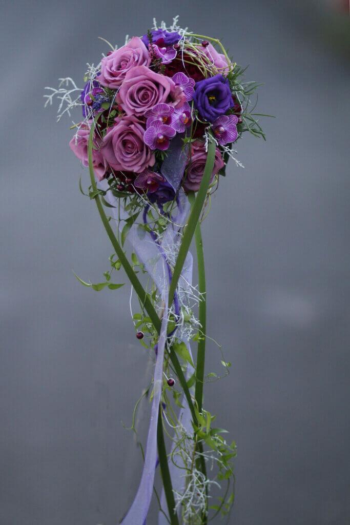 Hochzeitsschmuck Brautstrauß lila