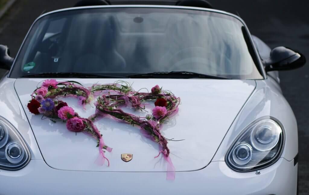 Hochzeit Autoschmuck Doppelherz