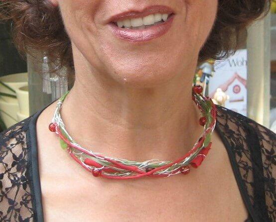Körperschmuck Florale Halskette