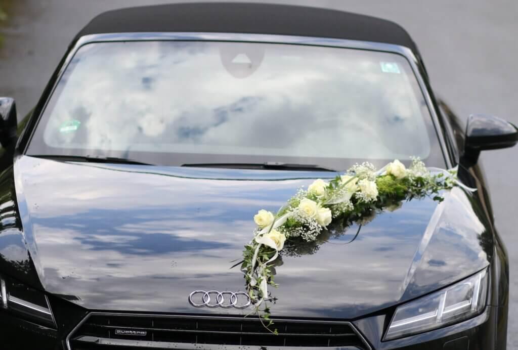 Hochzeit Autoschmuck Girlande weiß für Auto