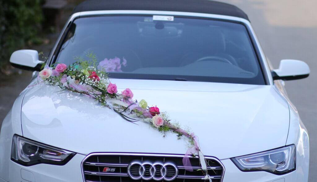 Hochzeit Autoschmuck Girlane locker