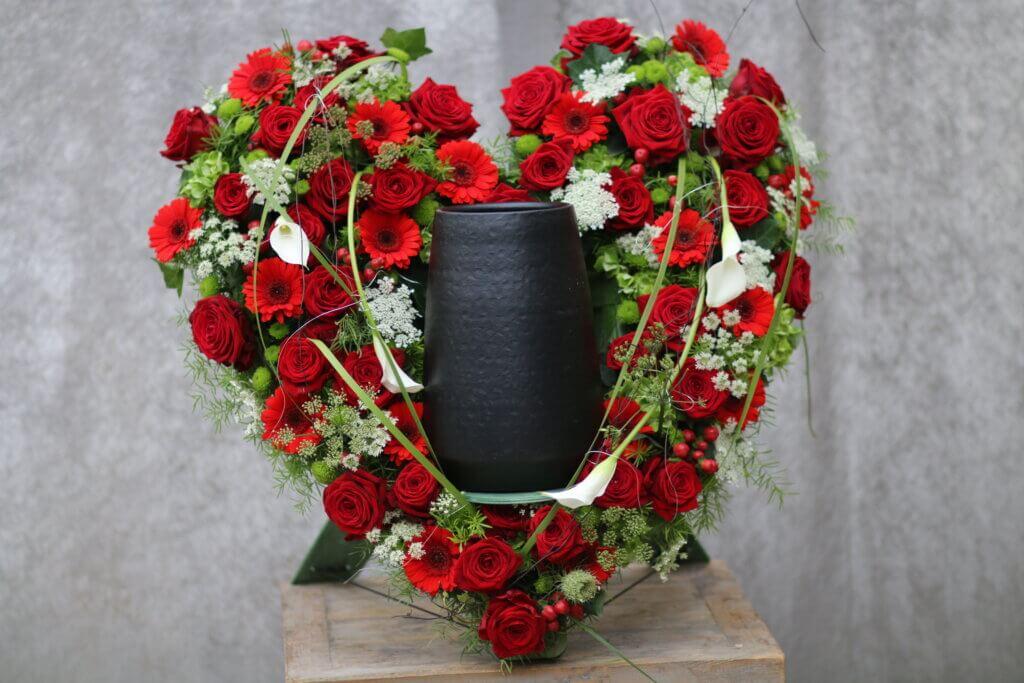 Trauerschmuck Urnenschmuck rotes Herz
