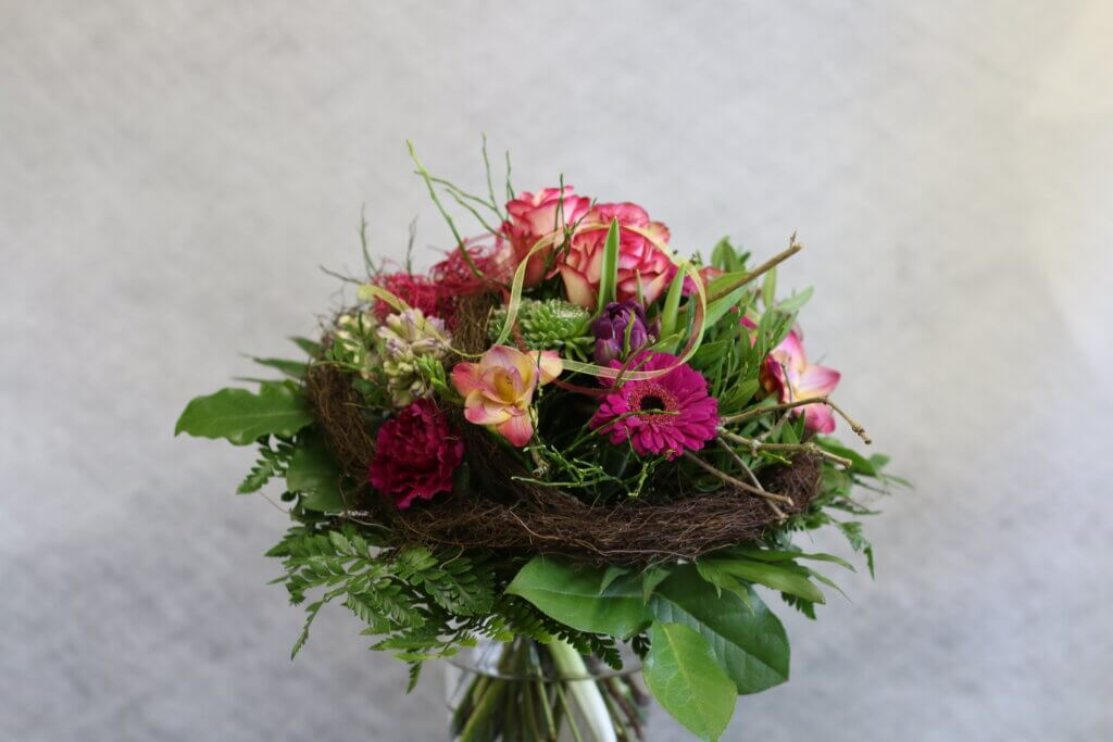 Blumensträuße Strauß modern rund pink